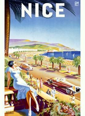 Nice Riviera Beach Resort Poster Wood Sign 12x16 Planked