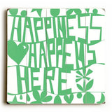 Happiness Wood Sign 13x13 Planked