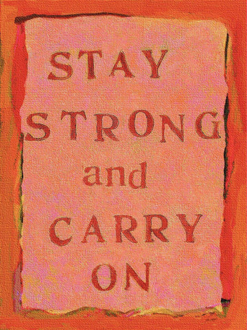 Stay Strong II Wood Sign 12x16 Planked
