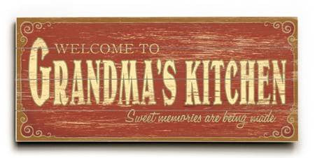 0003-1156-Grandma's Kitchen Wood Sign 10x24 (26cm x61cm) Planked
