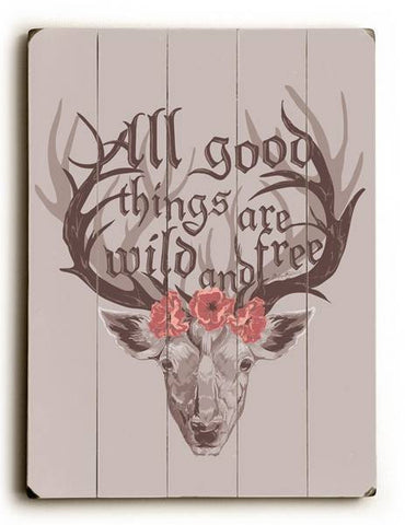 All Good Things Wood Sign 9x12 (23cm x 31cm) Solid