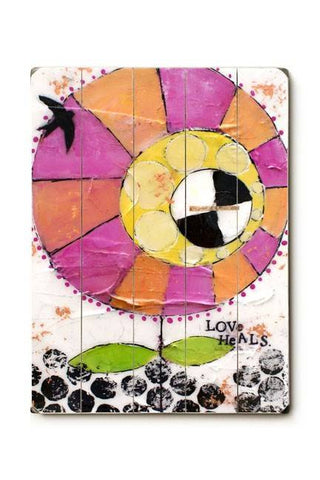 Love heals Wood Sign 18x24 (46cm x 61cm) Planked