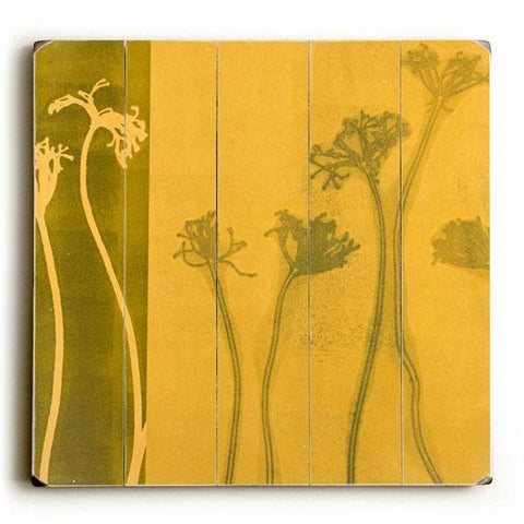 Yellow Weeds Wood Sign 30x30 (77cm x 77cm) Planked