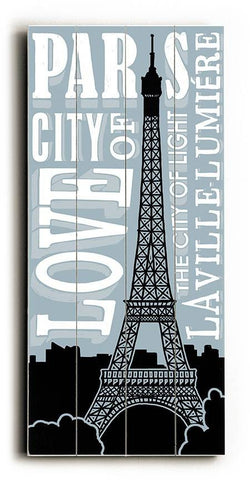 Paris Wood Sign 10x24 (26cm x61cm) Planked