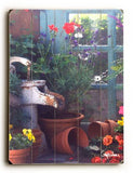 Garden Window Wood Sign 14x20 (36cm x 51cm) Planked
