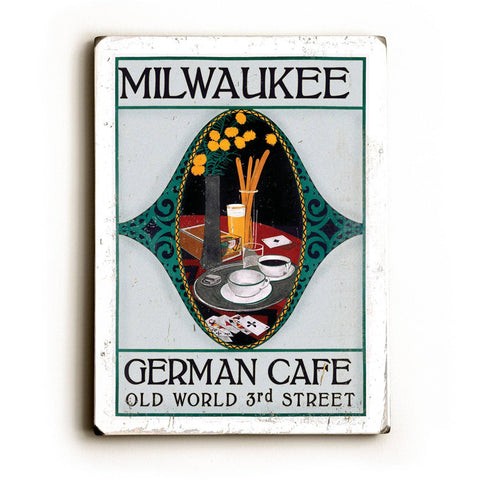 Milwaukee Wood Sign 18x24 (46cm x 61cm) Planked