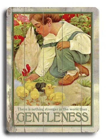 Gentleness Wood Sign 18x24 (46cm x 61cm) Planked
