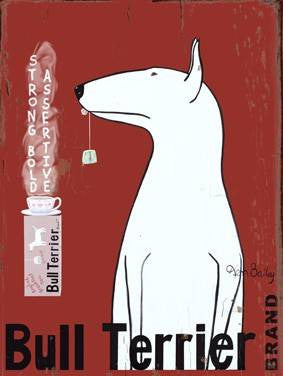 Bull Terrier Brand Wood Sign 14x20 (36cm x 51cm) Planked