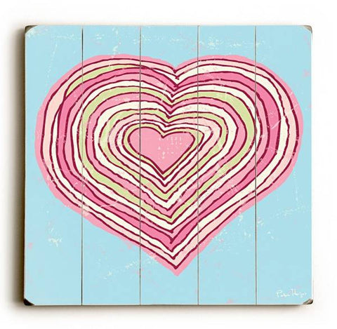 Groovy Heart Wood Sign 30x30 (77cm x 77cm) Planked