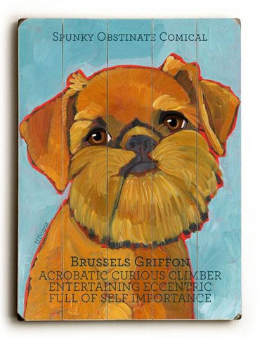Brussels Griffon Wood Sign 18x24 (46cm x 61cm) Planked
