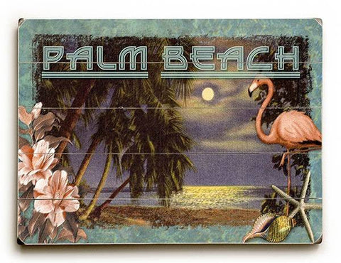 Palm Beach Wood Sign 25x34 (64cm x 87cm) Planked