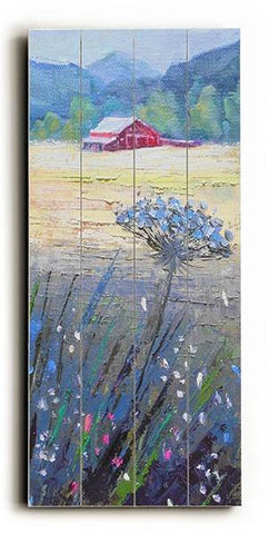 Queen Ann's Lace in the Valley Wood Sign 10x24 (26cm x61cm) Planked
