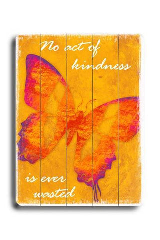 No act of Kindness Wood Sign 14x20 (36cm x 51cm) Planked