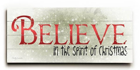 Believe Wood Sign 10x24 (26cm x61cm) Planked