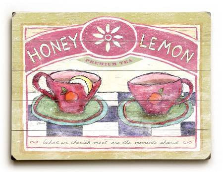 0003-0145-Honey Lemon Wood Sign 9x12 (23cm x 31cm) Solid
