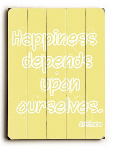 Happiness Wood Sign 9x12 (23cm x 31cm) Solid