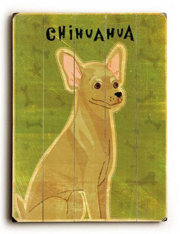 Chihuahua Wood Sign 30x40 (77cm x102cm) Planked