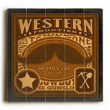 Western Stache Wood Sign 30x30 (77cm x 77cm) Planked