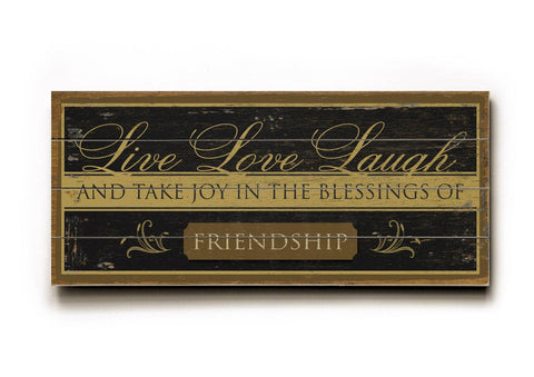Live Love Laugh Wood Sign 10x24 (26cm x61cm) Planked