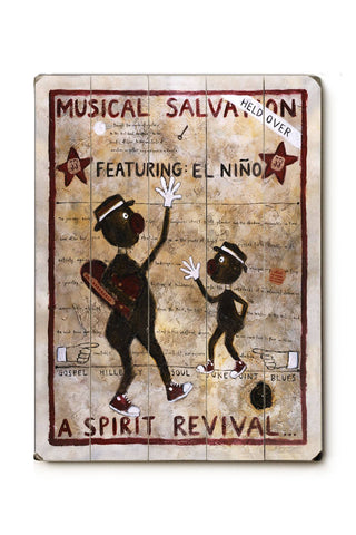 Musical Salvation Wood Sign 18x24 (46cm x 61cm) Planked