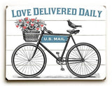 Love Delivered Daily Wood Sign 9x12 (23cm x 31cm) Solid