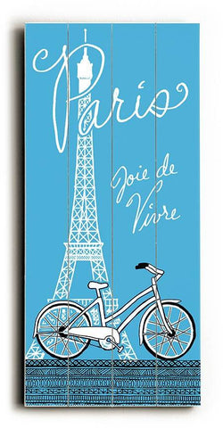Paris-Joie de Vivre Wood Sign 10x24 (26cm x61cm) Planked
