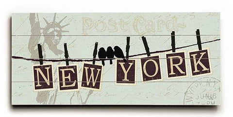 Migration - New York Wood Sign 10x24 (26cm x61cm) Planked