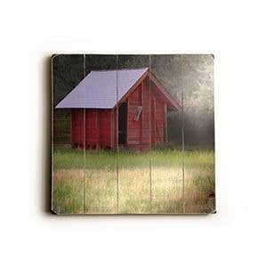 Red Barn Wood Sign 13x13 Planked