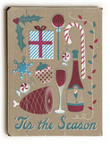 'Tis the Season Wood Sign 12x16 Planked