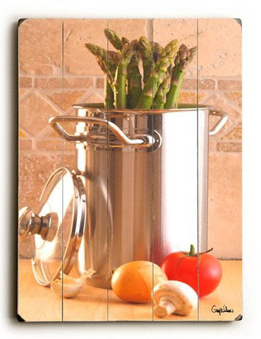 Asparagus Steamer Wood Sign 9x12 (23cm x 31cm) Solid