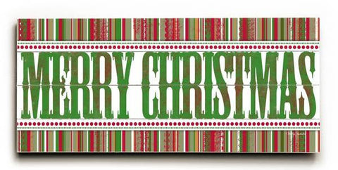 Merry Christmas Wood Sign 10x24 (26cm x61cm) Planked