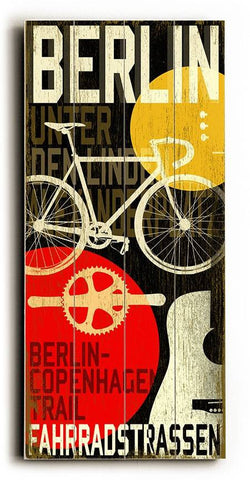 Berlin-MusCycle III Wood Sign 10x24 (26cm x61cm) Planked