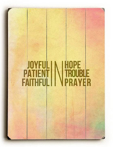 Joyful IN Hope Wood Sign 30x40 (77cm x102cm) Planked
