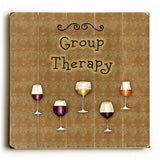 Group Therapy Wood Sign 13x13 Planked