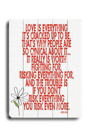 Love is Everything Wood Sign 14x20 (36cm x 51cm) Planked