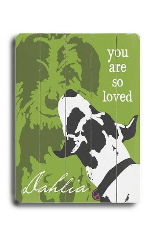 You are so Loved Wood Sign 9x12 (23cm x 31cm) Solid