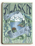 Alaska Wood Sign 9x12 (23cm x 31cm) Solid
