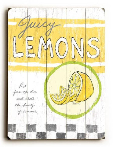 0003-0129-Juicy Lemons Wood Sign 9x12 (23cm x 31cm) Solid