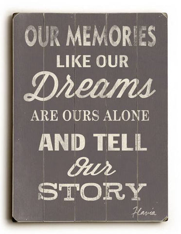 Our Memories Wood Sign 9x12 (23cm x 31cm) Solid
