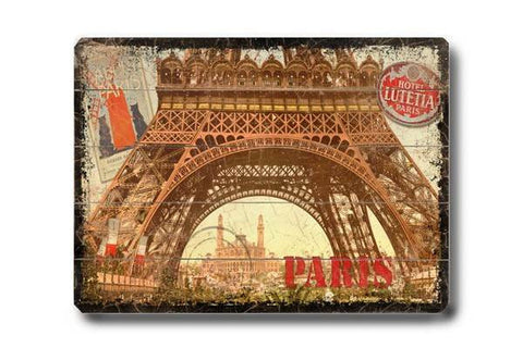 Paris Wood Sign 14x20 (36cm x 51cm) Planked