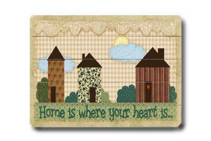 Home is where your heart is Wood Sign 18x24 (46cm x 61cm) Planked
