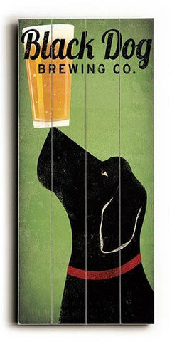 Black Dog Brewing Co Wood Sign 10x24 (26cm x61cm) Planked