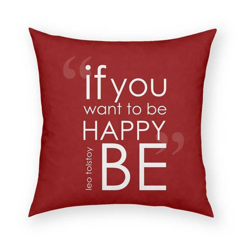 Be Happy Pillow 18x18