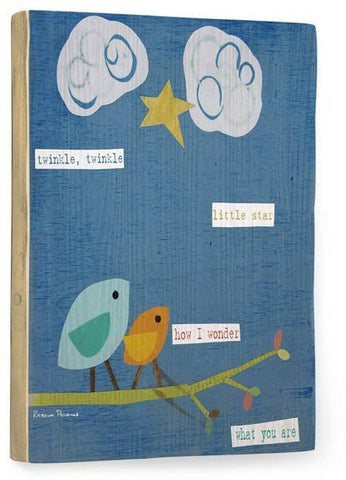 Twinkle Wood Sign 14x20 (36cm x 51cm) Planked