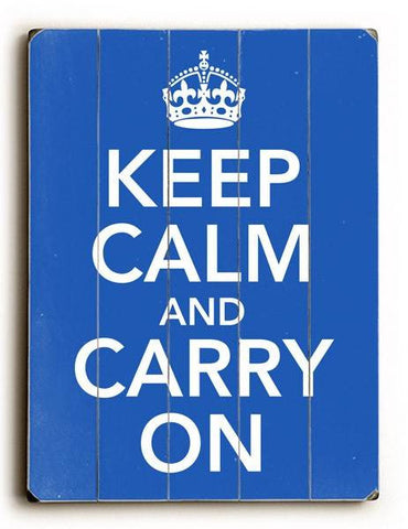 Keep calm and Carry on Wood Sign 25x34 (64cm x 87cm) Planked