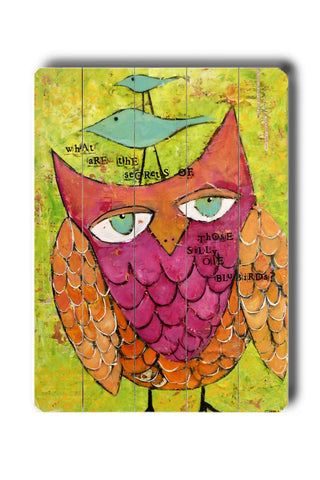 Owl Wood Sign 14x20 (36cm x 51cm) Planked