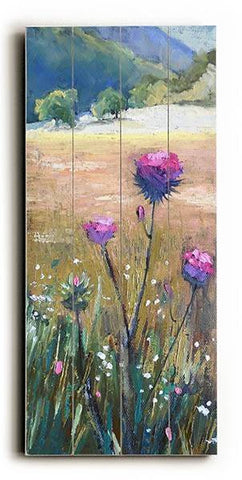 Thistle in the Valley Wood Sign 10x24 (26cm x61cm) Planked