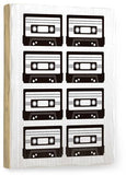 B/W Tapes Wood Sign 9x12 (23cm x 31cm) Solid