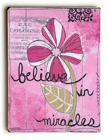 Believe in Miracles Wood Sign 25x34 (64cm x 87cm) Planked