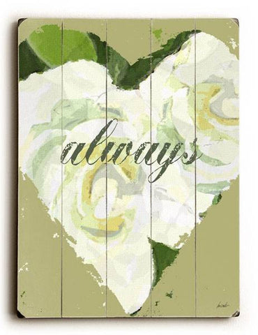 Always - Heart Wood Sign 25x34 (64cm x 87cm) Planked